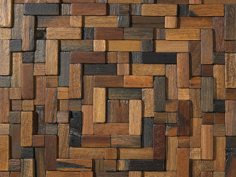 Intsourcing multi family recycled wood wall coverings for Reusable wood